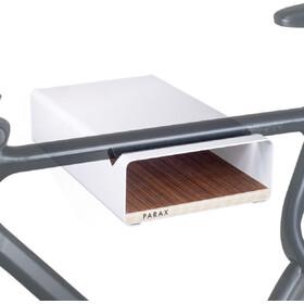 PARAX S-Rack Wandhalterung Aluminium weiß/braun
